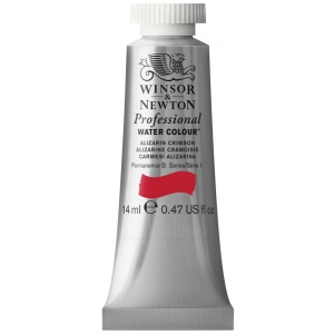 Winsor & Newton™ Artists' Watercolor 14ml Alizarin Crimson: Red/Pink, Tube, 14 ml, Watercolor, (model 0105004), price per tube