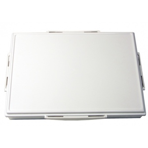 "Heritage Arts™ 33-Well Heavy-Duty Plastic Platform Palette: White/Ivory, Cover, Plastic, 33 Wells, Rectangle, 9 1/2"" x 13 1/4"", Tray, (model HPP913-33), price per each"