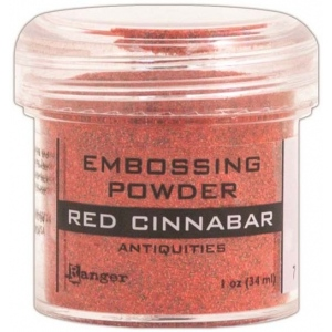 Ranger Specialty 2 Embossing Powders: Red Cinnabar, Formerly Chinese Red