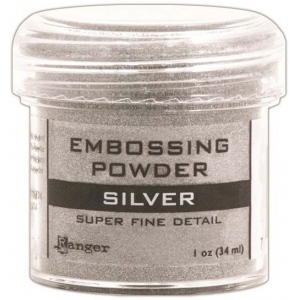 Ranger Basics Embossing Powders: Super Fine Silver