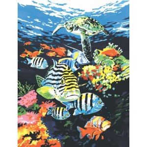 "Royal & Langnickel® Painting by Numbers™ 8 3/4 x 11 3/8 Junior Small Set Ocean Deep: 8 3/4"" x 11 3/8"", (model PJS74), price per set"