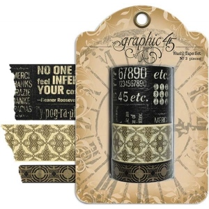 Graphic 45 Staples Washi Tape Set