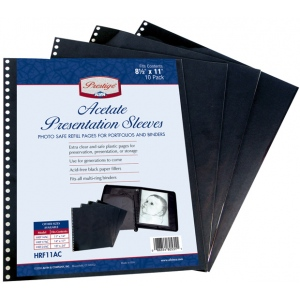 "Prestige™ Acetate Presentation Sleeves 14 x 17: Black/Gray, Acetate, 14"" x 17"", (model HRF17AC), price per pack"