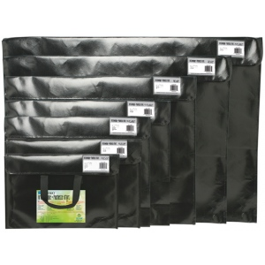 "Itoya® Art Profolio® Art Envelopes 12.5"" x 19"": Black/Gray, Polypropylene, 12 1/2"" x 19 1/4"""