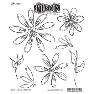 Ranger Dyan Reaveley Dylusions Cling Stamps: Fancy Florals
