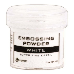 Ranger Opaque/Shiny Embossing Powders: Super Fine White