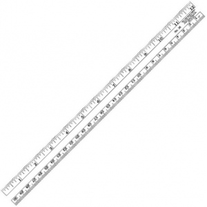 "Westcott® C-Thru® 12"" Co-Ed Plastic Ruler: Clear, Plastic, 12"", General Purpose, (model 36), price per each"