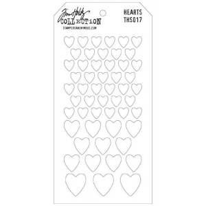 Stampers Anonymous Tim Holtz Layering Stencil: Hearts