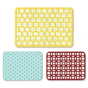 Sizzix Life Made Simple Thinlits Die Set: Overall Patterns, Pack of 3