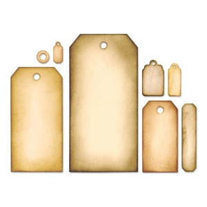 Sizzix Tim Holtz Alterations Framelits Dies: Tag Collection