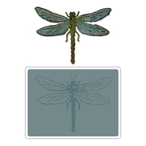 Sizzix Tim Holtz Alterations Bigz Die with Texture Fades: Layered Dragonfly