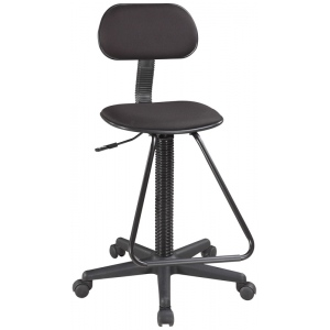 "Alvin® Drafting Height Economy Chair: No, Black/Gray, Foot Ring Included, 24"" - 29"", Under 24"", Fabric, (model CH213), price per each"