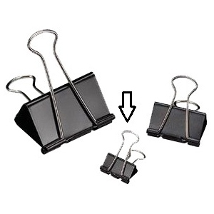 "Alvin® Binder Clips 3/4"": Black/Gray, 3/4"", (model 20107), price per box"