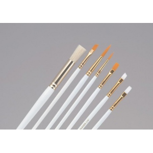 Princeton™ Brush Set Oil and Acrylic Round 5 Flat 2 and 4 Angular Shader 1/4: Natural, Angular Shader, Flat, Round, Acrylic, Oil, (model 9308), price per set