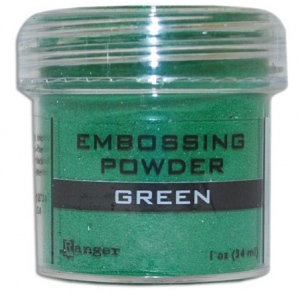 Ranger Opaque/Shiny Embossing Powders: Green