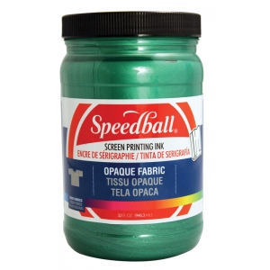 Speedball® Opaque Fabric Screen Printing Ink Emerald: Green, Jar, Fabric, 32 oz, Screen Printing, (model 4824), price per each