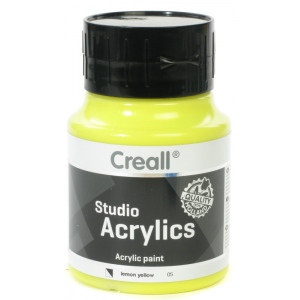 American Educational Creall Studio Acrylics: 500 ml, 05 Lemon Yellow