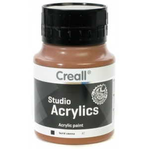 American Educational Creall Studio Acrylics: 500 ml, 67 Burnt Sienna