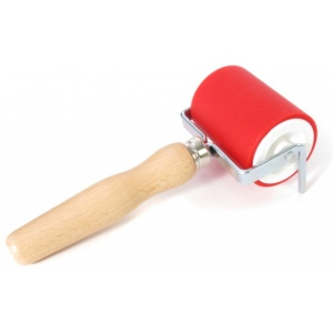 "American Educational ABIG Ink Roller Aluminum Core and Beechwood Handle: 2.4"" Wide"
