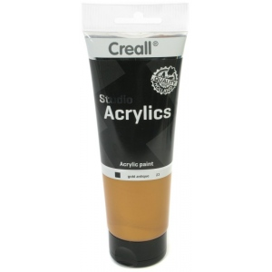 American Educational Creall Studio Acrylics Tube: 250 ml, 23 Gold Antique