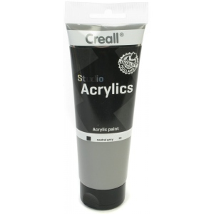 American Educational Creall Studio Acrylics Tube: 250 ml, 98 Neutral Grey