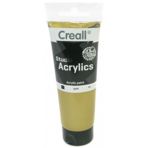 American Educational Creall Studio Acrylics Tube: 120 ml, 19 Gold