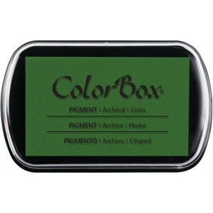 ColorBox® Full Size Pigment Ink Pad Grass: Green, Pad, Pigment, Full Size Rectangle, (model CS15206), price per each