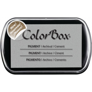 ColorBox® Full Size Pigment Ink Pad Cement: Black/Gray, Pad, Pigment, Full Size Rectangle, (model CS15220), price per each