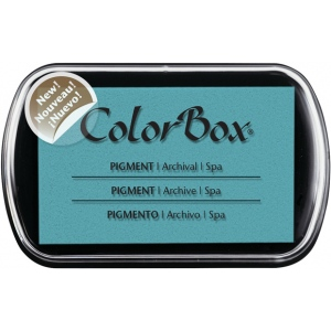 ColorBox® Full Size Pigment Ink Pad Spa: Blue, Pad, Pigment, Full Size Rectangle, (model CS15221), price per each