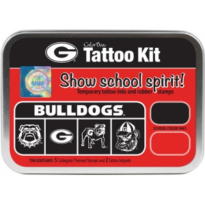 ColorBox® University of Georgia Collegiate Tattoo Kit: Tin, Stamp, (model CS19609), price per set