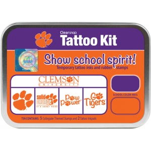 ColorBox® Clemson University Collegiate Tattoo Kit: Tin, Stamp, (model CS19622), price per set