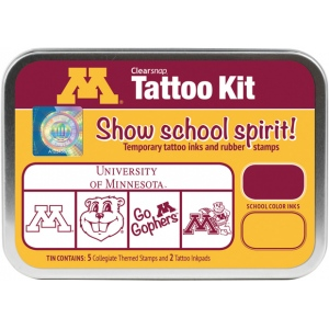 ColorBox® University of Minnesota Collegiate Tattoo Kit: Tin, Stamp, (model CS19628), price per set