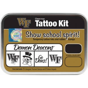 ColorBox® Wake Forest University Collegiate Tattoo Kit: Tin, Stamp, (model CS19635), price per set