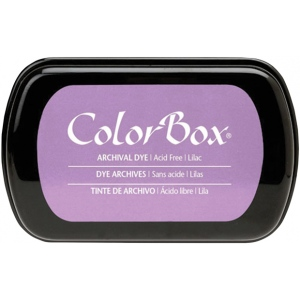 ColorBox® Full Size Archival Dye Ink Pad Lilac: Purple, Pad, Dye-Based, Full Size Rectangle, (model CS27037), price per each