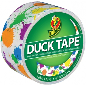 Duck Tape® Paint Splatter Tape (Roll): Roll, 10 yd, Pattern, (model DT280424), price per each