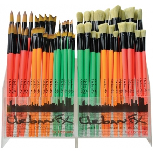 Dynasty Synthetic and Bristle Urban Art Brush Display Assortment