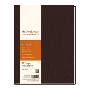 "Strathmore® 400 Series 8.5 x 11.5 Hardbound Sketch Book: White/Ivory, Book, 192 Sheets, 8 1/2"" x 11 1/2"", Hardbound Sketch, 60 lb, (model ST297-012), price per each"