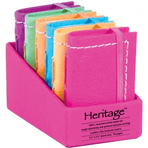 "Heritage Arts™ 2"" x 3"" Notebook Display: Sewn Bound, Assorted, Book, 2"" x 3"", Notebook, (model HM23), price per each"