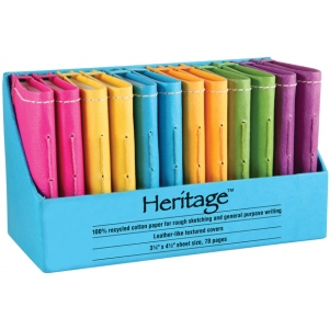 "Heritage Arts™ 3"" x 5"" Notebook Display: Sewn Bound, Assorted, Book, 3"" x 5"", Notebook, (model HM35), price per each"