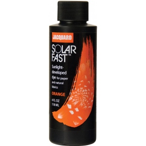 Jacquard SolarFast ™ Orange Dye 4 oz: Orange, Bottle, 4 oz, Sunlight-Developed, (model JSD1-101), price per each
