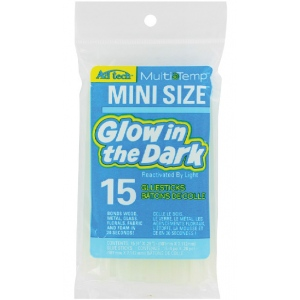 "Ad Tech™ Glow In The Dark Mini Glue Sticks: 15-Pack, 4"", Glue Stick, (model AT221-3415), price per 15-Pack"