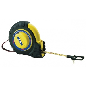 Alvin® 50' Speedy Rewind Tape Measure: Black/Gray, Yellow, 50', Tape Measure, (model ATM050), price per each