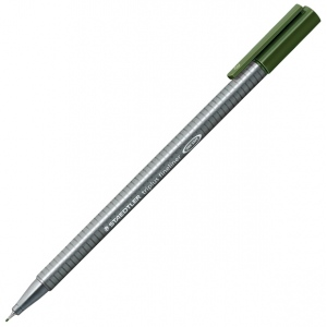 Staedtler® Triplus® Green Earth Fineliner Pen : Green, .3mm, Fine Nib, Technical, (model 334-55), price per each