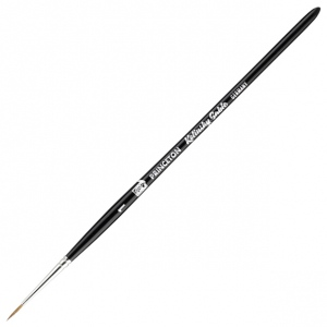 Princeton™ Kolinsky Sable Round 1 Brush: Short Handle, Kolinsky, Round, 1, Watercolor, (model 7050R-1), price per each