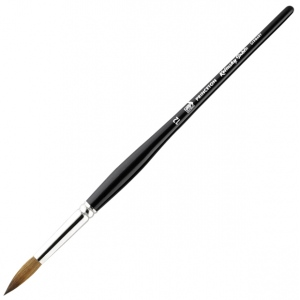 Princeton™ Kolinsky Sable Round 12 Brush: Short Handle, Kolinsky, Round, 12, Watercolor, (model 7050R-12), price per each