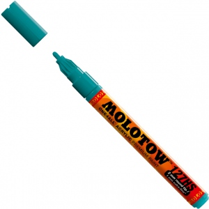MOLOTOW™ 2mm Fine Tip Acrylic Pump Marker Lagoon Blue: Blue, Paint, Refillable, 2mm, Paint Marker, (model M127221), price per each