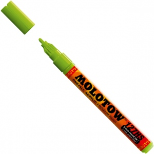 MOLOTOW™ 2mm Fine Tip Acrylic Pump Marker Grasshopper: Green, Paint, Refillable, 2mm, Paint Marker