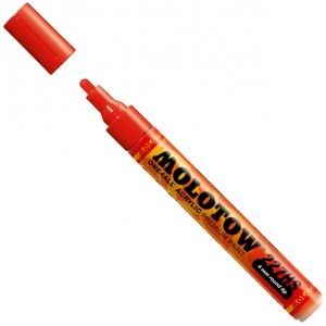 MOLOTOW™ 4mm Round Tip Acrylic Pump Marker Traffic Red: Red/Pink, Paint, Refillable, 4mm, Paint Marker, (model M227202), price per each