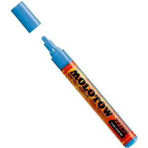 MOLOTOW™ 4mm Round Tip Acrylic Pump Marker Shock Blue Middle: Blue, Paint, Refillable, 4mm, Paint Marker, (model M227205), price per each