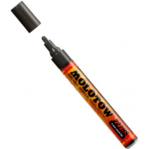 MOLOTOW™ 4mm Round Tip Acrylic Pump Marker Signal Black: Black/Gray, Paint, Refillable, 4mm, Paint Marker, (model M227212), price per each
